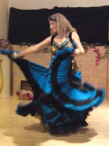 Skirt dance.