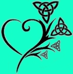 Celtic love knot tealbrt