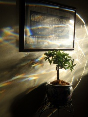 Prismatic light shining on Egyptian Goddess Ma'at