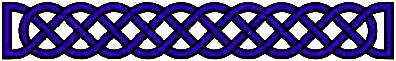 Celtic Long Knot Intense Blue