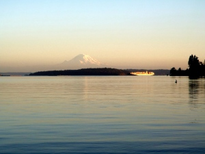 Mt. Rainier across the Sound