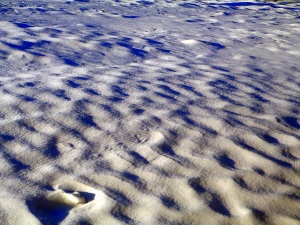 Textured snow