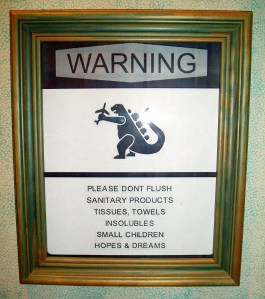 Do not flush...