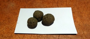 A few seed dried seed balls
