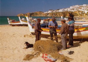 Fishermen of the Algarve in Portugal