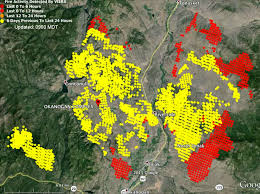 Wildfire map 8-21-2015 with 100 square miles burned since then.