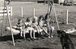 Swing in Washoe Valley - Polly Jo, Robbie, moi, Shell, Teresa